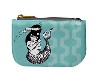 Salty Dame mermaid coin purse