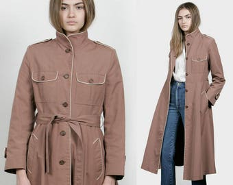 SALE - 70s Fitted Trench Coat