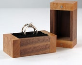 Walnut Birds Eye Maple Wooden Ring Bearer Box