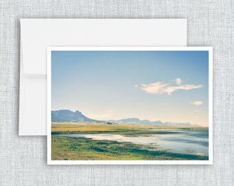 A Path Less Traveled - greeting card, blank greeting card, montana landscape, countryside, landscape, mountains, wildflowers, wilderness
