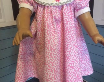 18 inch doll clothes- YellowPink Floral WISH Party Dress
