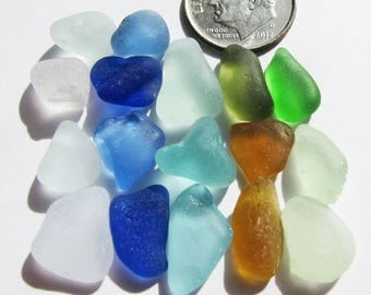 Sea Glass Tinies, Bulk Seaglass Lot - Blues, Greens, Browns and Whites, Beach Glass, Mermaid Tears, For Crafts, Mosaics, Jewelry