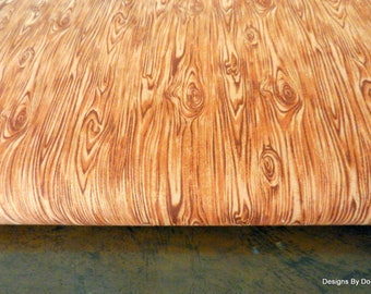 """One Yard Cut Quilt Fabric, Wood Grain, """"Building 101"""", Redwood by Fabri-Quilt, Sewing-Quilting-Craft Supplies"""