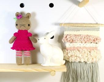 carmen .. amigurumi stuffed plush toy, teddy bear, amigurumi crochet animal plushie, cute girl doll