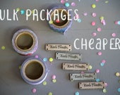 Knitting Tags - Knitting Labels - Personalized Tags - Custom Tags - Custom Labels - Personalized Labels - Sewing Tags - Leather Tags - Bars