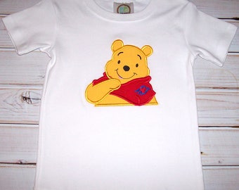Sample SALE Boys Winnie The Pooh Cruise Applique S/S Shirt Size 2T--Vacation--Cruise--Birthday