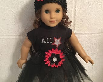 Doll clothes that fit the American girl black tutu