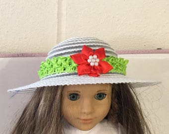 """Hat#10 doll clothes that fit 18"""" like American girl"""