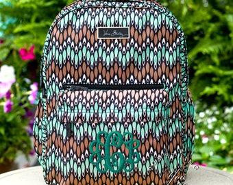 New Vera Bradley Backpack, Sierra Stream Lighten up Grande backpack, Monogrammed bookbag, personalized backpack, Laptop backpack