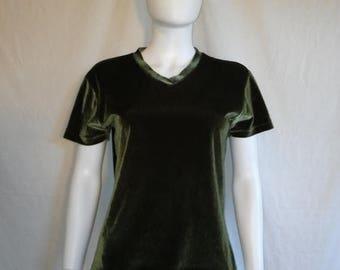 SALE 25% off SALE 90's velvet top shirt
