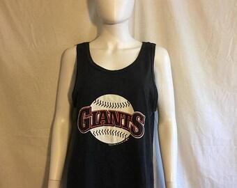 Closing Shop 40%off SALE SF San Francisco Giants baseball tank top t shirt  1987 80s Vintage