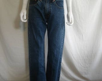 Closing Shop 40%off SALE Levis Cropped Raw Hem Jeans // High Waisted Levis // Waist W 32