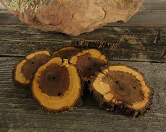 Sunburst Juniper Wooden buttons- 3 buttons (3002)