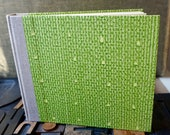 Photo Album - Medium with a Bright Green Paste Paper Cover