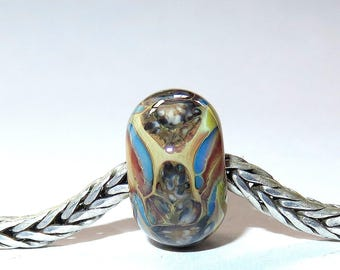 Luccicare Lampwork Bead - Dragon XXI -  Lined with Sterling Silver