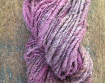 Try a Little Tenderness, handspun bulky yarn, 82 yards, bulky yarn, rustic art yarn, chunky yarn, wool handspun yarn