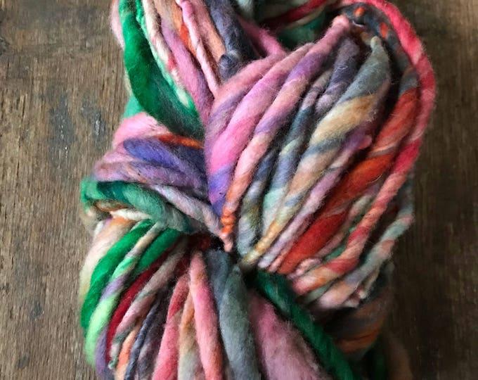 Candy Store - handspun bulky yarn, 56 yards, bulky yarn, rustic art yarn, chunky yarn, wool handspun yarn