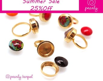 interchangeable ring,DIY Stainless Steel Bead holder, ring bead changeable,jewelry supplies, 317L Stainless Steel, beadable ring,gold plated