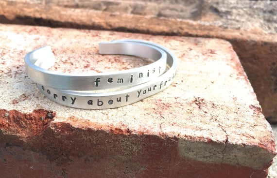 I'm not sorry about your Fragile masculinity Cuff Bracelet-Feminist Cuff-Feminist Bracelet-Vegan Bracelet-Vegan Jewelry-Squad Gift-Girl Gang