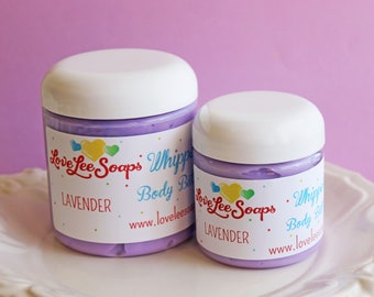 Whipped Body Butter Lavender - Lavender Lotion, Flower, Whipped Lotion, Skin Care, Body Lotion, Gift For Her, Body Butter, Body Frosting