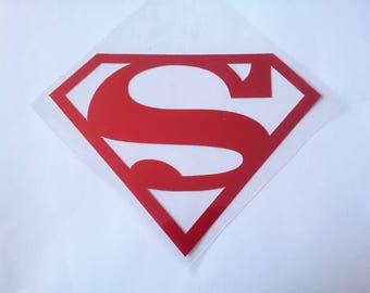 Superman Logo Iron-on Decal for DIY Superman Costume Shirt, Vinyl Iron-On Applique