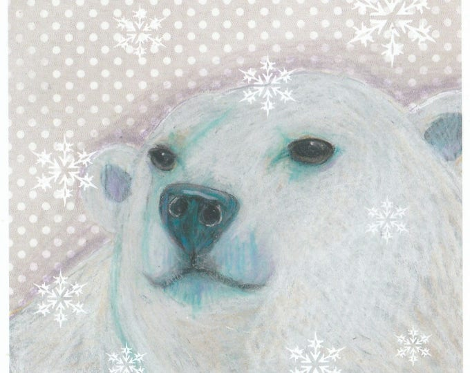 Dottie the Polar Bear winter holiday card