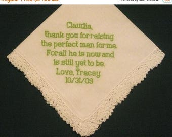 ON SALE Mother of the Groom Hanky style number 46B with Free Gift Box and Free shipping in Us