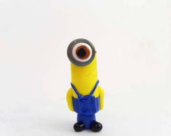 Kevin the Good Minion Glass Lampwork Bead
