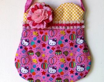 Hello Kitty Purse, girls purse, toddler purse, spring purse, girlie purse