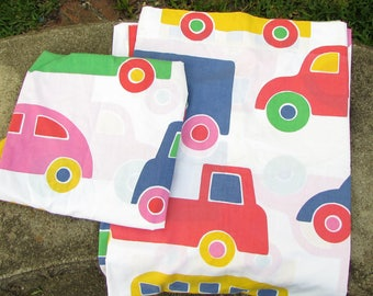 Marimekko bed sheet set - Bo Boo - Cars Trucks Transportation - bedsheets - Twin set