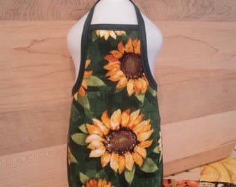 Sunflower Green Dish Soap Bottle Apron