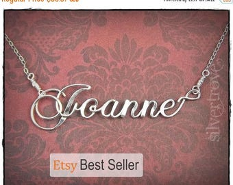 ON SALE Sterling Silver Name Necklace, Personalized Necklace, Script Wire Name Necklace, Cursive Name Necklace, Handmade Name Necklace