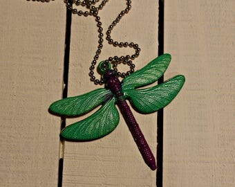 Dragonfly Pendant Necklace - wings pendant