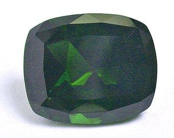 Vintage TOURMALINE Dark Green Faceted Loose Gem 3.86cts fg220