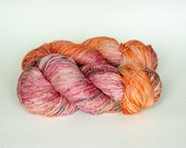 PAISLEY, twisted red label hand dyed merino, cashmere, silk fingering weight yarn