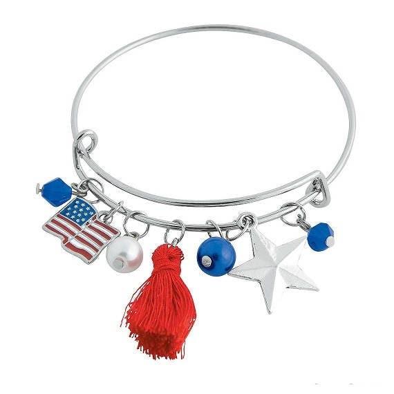 Patriotic Bangle Bracelet