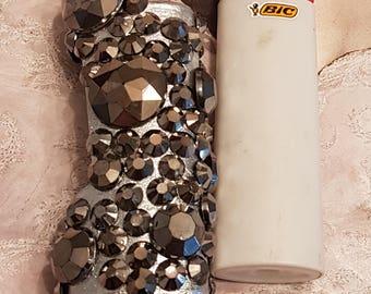 Bic Lighter Sleeve/Silver Steel
