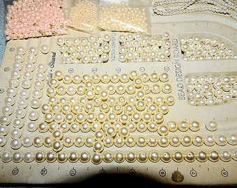 Pearl Lot, Vintage Destache Pearls, Mixed Sizes