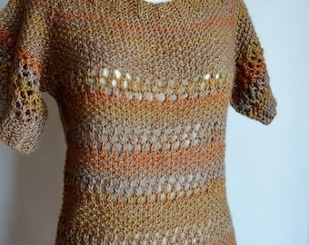 First Fall Sale - 15% Off Squash Blossom Boho Lace Sweater - Hand Knit Women's Pullover Tunic Length Sweater in Wool - Autumn Fashion Lace S