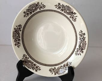 Royal China Replacement Rimmed Cereal Bowl in Sussex Pattern Beautiful Brown Botanical Anthropologie Style Cavalier Ironstone