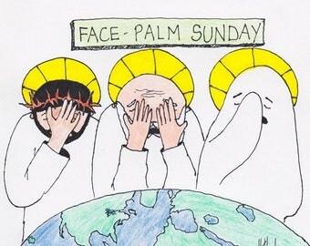 Face Palm Sunday CARTOON