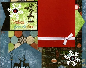Christmas Glows With Love - Premade Scrapbook Page