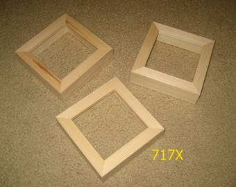 3 deep rabbet unfinished 4x4 frames for canvases