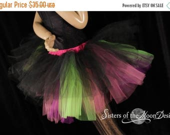 SALE Ready to ship Tutu tulle skirt black purple neon XL Three Layer dance UV club wear pastel goth go go rave halloween goth rave Sotmd