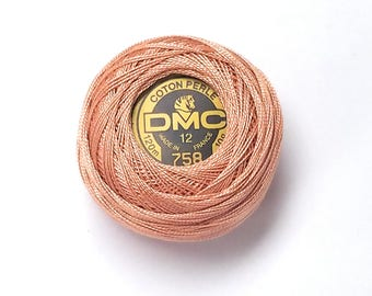 DMC 758 - Very Light Terra Cotta - Perle Cotton Thread Size 12
