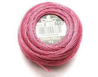DMC 3687 - Mauve - Perle Cotton Thread Size 8