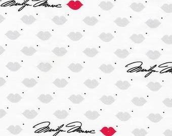 Robert Kaufman Fabric, Marilyn Monroe, AYO-17199-121 Lipstick, 100% Cotton