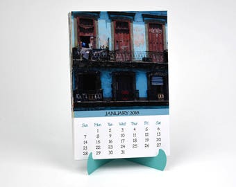 2018 Photo Calendar with Folder and Stand - Cuba