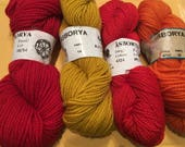 Special order for Rae:  4 skeins of Asborya yarn from Sweden