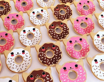 Donut Cat Enamel Pin - Your Color Choice